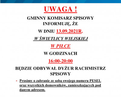 Spis ludności i mieszkań w Piłce