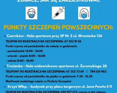Punkty szczepień w Powiecie Czarnkowsko-Trzcianeckim