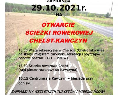 Otwarcie ścieżki rowerowej Chełst - Kawczyn